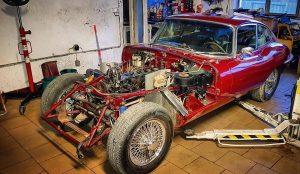 "Jaguar E-type SII FHC ""hotrod"" style."